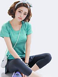 Running Tights / Sweatshirt / Tank Women's Short Sleeve Breathable / Quick Dry / Sweat-wicking / Comfortable Spandex / LYCRA®Yoga /