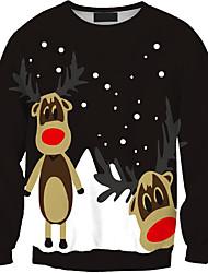 Sweatshirt Hommes Décontracté / Quotidien Imprimé Col Arrondi Micro-élastique Polyester Manches Longues Automne Hiver