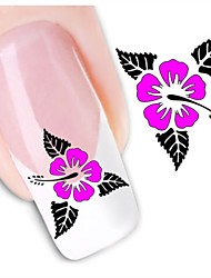 1sheet  Water Transfer Nail Art Sticker Decal XF1436