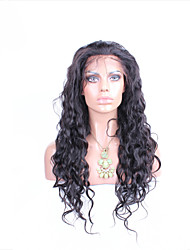 """10""""-26"""" Glueless Lace Front Wig Natural Wave Peruvian Virgin Hair Color Natural Black Baby Hair for Black Women"""
