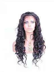 """10 """"-26"""" бесклеевой парик фронта шнурка естественная волна перуанских девственница цвет волос натуральный черный волос младенца для черных"""