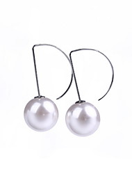 Stud Earrings Jewelry Pearl Silver Jewelry For Daily Casual 1 pair