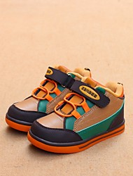 Boy's Sneakers Fall Winter Comfort Customized Materials Casual Flat Heel Blue Brown