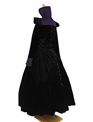Outfits Gothic Lolita Victorian Cosplay Lolita Dress Black Solid / Jacquard Long Sleeve Ankle-length Top / Skirt For Women Velvet
