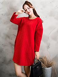signer la maternité à manches longues en coton automne longue section korean des grands chantiers épaisse robe de bande lâche