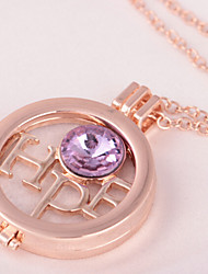 Necklace Pendant Necklaces Jewelry Party / Daily Others Circular Design Alloy Women 1pc Gift Gold