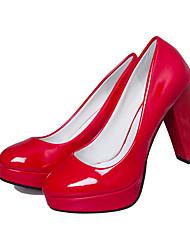 Homme-Habillé-Noir / Rouge / Blanc-Gros Talon-A Plateau-Chaussures à Talons-Similicuir