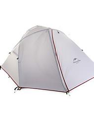 NatureHike® 2 personnes Tente Double Une pièce Tente de camping Aluminium ToileRésistant à l'humidité Respirabilité Etanche Résistant au