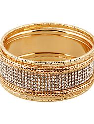 Femme Bracelets Alliage Imitation de diamant Style Punk Simple Style Argent Doré Bijoux 1pc