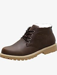 Для мужчин Ботинки Удобная обувь Армейские ботинки Полиуретан Осень Зима Повседневные Удобная обувь Армейские ботинки ШнуровкаНа плоской
