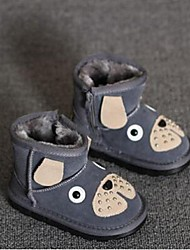Boy's Boots Comfort Suede Casual Black Yellow Gray