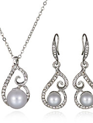 Women's Jewelry Set Pearl Bridal European Pearl Imitation Diamond 1 Necklace 1 Pair of Earrings For Wedding Daily Wedding Gifts
