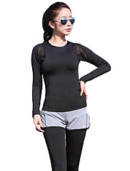 Women's Long Sleeve Running Tights Rash guard Breathable Soft Comfortable Spring Summer Winter Fall/Autumn Sports WearYoga Exercise &