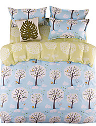 Mingjie Blue Trees Bedding Sets 4PCS for Twin Full QueenSize from China Contian 1 Duvet Cover 1 Flatsheet 2 Pillowcases
