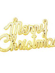 Рождественский декор Товары для Рождественской вечеринки Товары для отпуска 10Pcs Рождество Пластик Зеленый