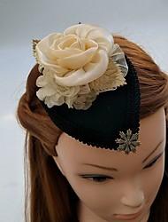 Mujer Encaje Diamantes Sintéticos Gasa Tejido Celada-Boda Ocasión especial Tocados Sombreros Clip de Pelo 1 Pieza
