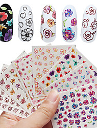5 Sheet Nail Sticker Art Autocollants de transfert de l'eau Maquillage cosmétique Nail Art Design