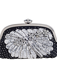 L.WEST Women's Fashion and Elegant Beaded Sequined Inlaid Diamonds Evening Bag