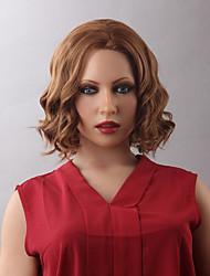 encantador peruca ondulado natural dianteira do laço do cabelo humano