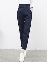 Sign 2016 Fall harem pants casual pants feet buttons on both sides of waist carrot pants female trousers