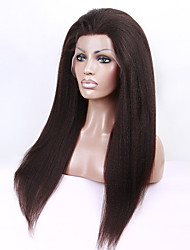 22 Inch Full Lace Human Hair Wigs Virgin Peruvian Hair kinky Straight Wigs Human Hair Lace Wigs For Black Women