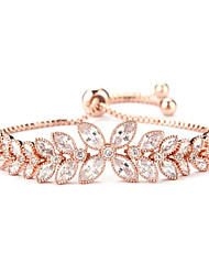 Bracelet Chain Bracelet Zircon Flower Fashion Daily Jewelry Gift Gold Silver Rose Gold,1pc
