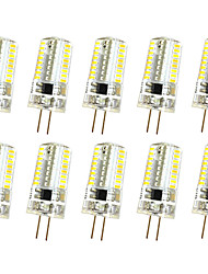 10 PC 3w g4 luz de la decoración t 64led smd 3014 250-300lm lm blanco caliente / fresco blanco dimmable ac110v / 220 v