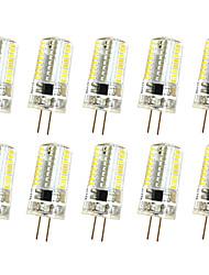 5W G4 Luci da arredo T 64 SMD 3014 380 lm Bianco caldo Luce fredda Intensità regolabile AC220 V 10 pezzi