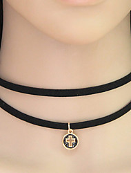 Women 's Fashion Simple Hollow Cross Choker Necklaces Jewelry Casual
