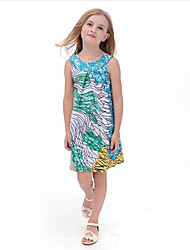 Girl's Casual/Daily Striped Dress,Spandex All Seasons Short Sleeve