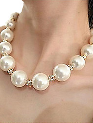 Necklace Strands Necklaces / Pearl Necklace Jewelry Party / Daily / Casual Fashion Pearl / Alloy Silver 1set Gift