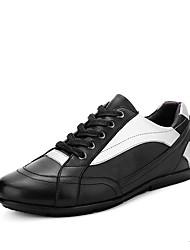 Femme-Décontracté-Noir-Talon Plat-Confort-Baskets-Cuir