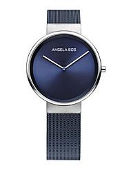 BOS Men's Ultra Thin Simple Stainless Steel Quartz Wrist Watch Mesh Bracklet 8010