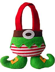 Kerstversieringen Geschenktasjes Alles voor de feestdagen 2Pcs Kerstmis Textiel Grijs