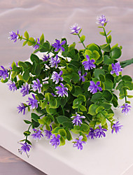 1 1 Rama Plástico Plantas Flor de Mesa Flores Artificiales 36cm