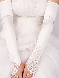 Elastic Satin Elbow Length Wedding/Party Glove