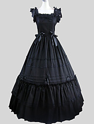 One-Piece/Dress Classic/Traditional Lolita Victorian Cosplay Lolita Dress Solid Sleeveless Ankle-length Dress For Cotton