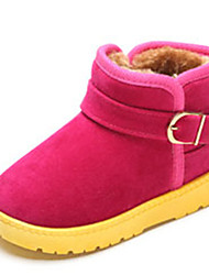 Girl's Boots Winter Comfort Suede Casual Flat Heel Others Brown Khaki Fuchsia Other