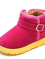Girls' Boots Comfort Snow Boots Suede Winter Casual Comfort Snow Boots Flat Heel Fuchsia Brown Khaki Flat