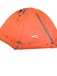 2 persons Tent Double One Room Camping Tent Waterproof Breathability Keep Warm Portable-Hiking Camping Traveling Hunting-Orange