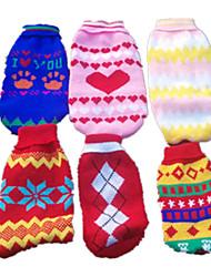 Cane Maglioni Abbigliamento per cani Divertente Casual Geometrico Colore casuale