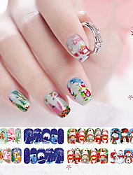 12 Nail Art Sticker  Water Transfer Decals Makeup Cosmetic Nail Art Design