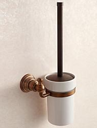 acessórios do banheiro de bronze antigo porta-escova de material higiênico sólida