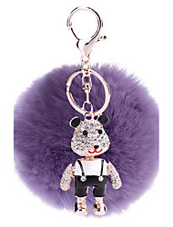 Key Chain Sphere Key Chain Purple Metal / Plush