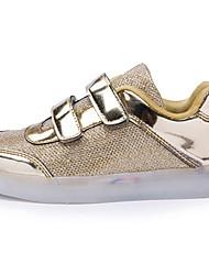 Para Niño-Tacón Plano-Confort Innovador Light Up Zapatos-Zapatillas de deporte-Exterior Informal Deporte-PU-Rosa Plata Oro