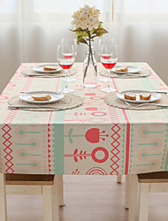 Patterned Table Cloth  Linen Material Table Decoration 1pc/set Pink Dandelion Feature