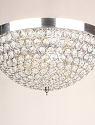 Flush Mount ,  Modern/Contemporary Chrome Feature for Crystal Designers Metal Living Room Bedroom Dining Room Study Room/Office Hallway