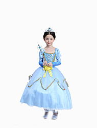Cosplay Costumes / Party Costume / Masquerade Princess / Cinderella / Fairytale / Bunny Girls Movie Cosplay Blue Solid DressHalloween /