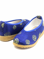 Boy's Loafers & Slip-Ons Spring Fall Comfort Silk Casual Flat Heel Black Blue Yellow Coffee