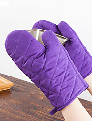 1 Piece Heat Proof Gloves Anti Scald Thickening Microwave Oven Gloves Kitchen Multifunctional Insulation Gloves (Random Colours)